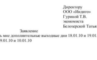 Отгул за ранее отработанное время ТК РФ