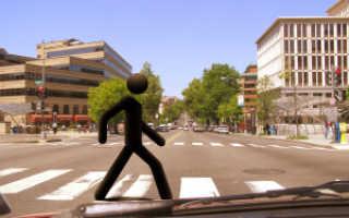 Водитель сбил пешехода на пешеходном переходе ответственность
